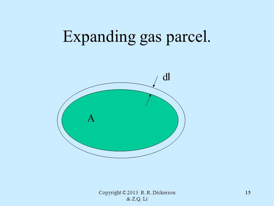 Copyright © 2013 R. R. Dickerson & Z.Q. Li 15 Expanding gas parcel. A dldl