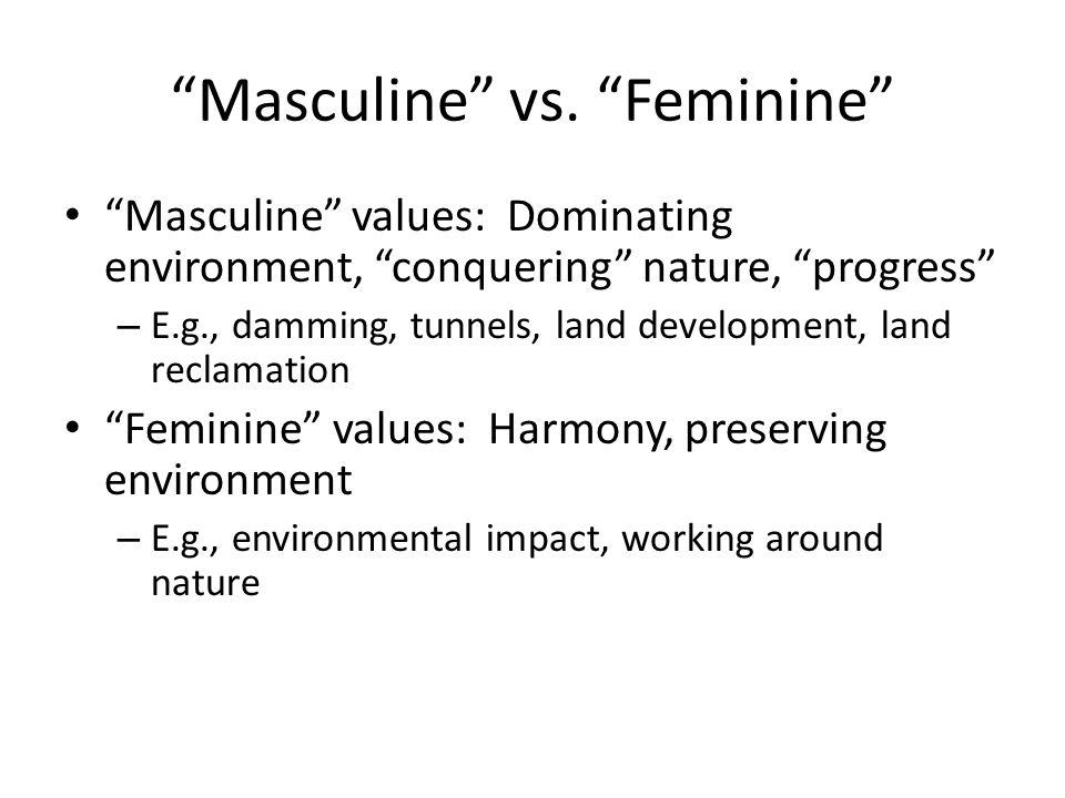 Masculine vs.