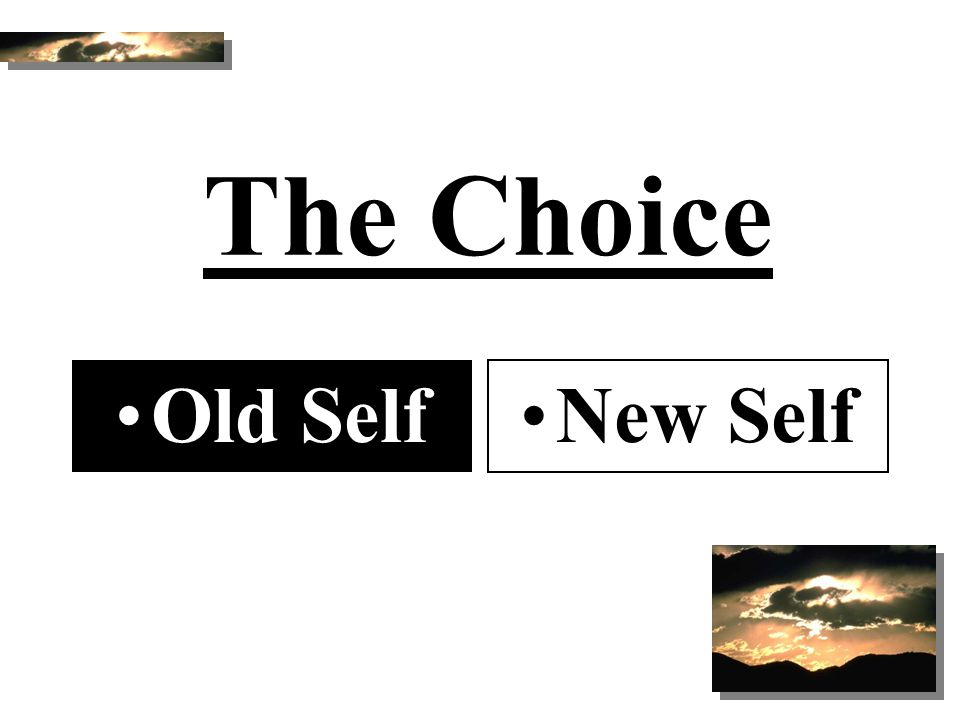 The Choice Old Self New Self