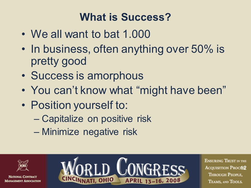 12 What is Success.