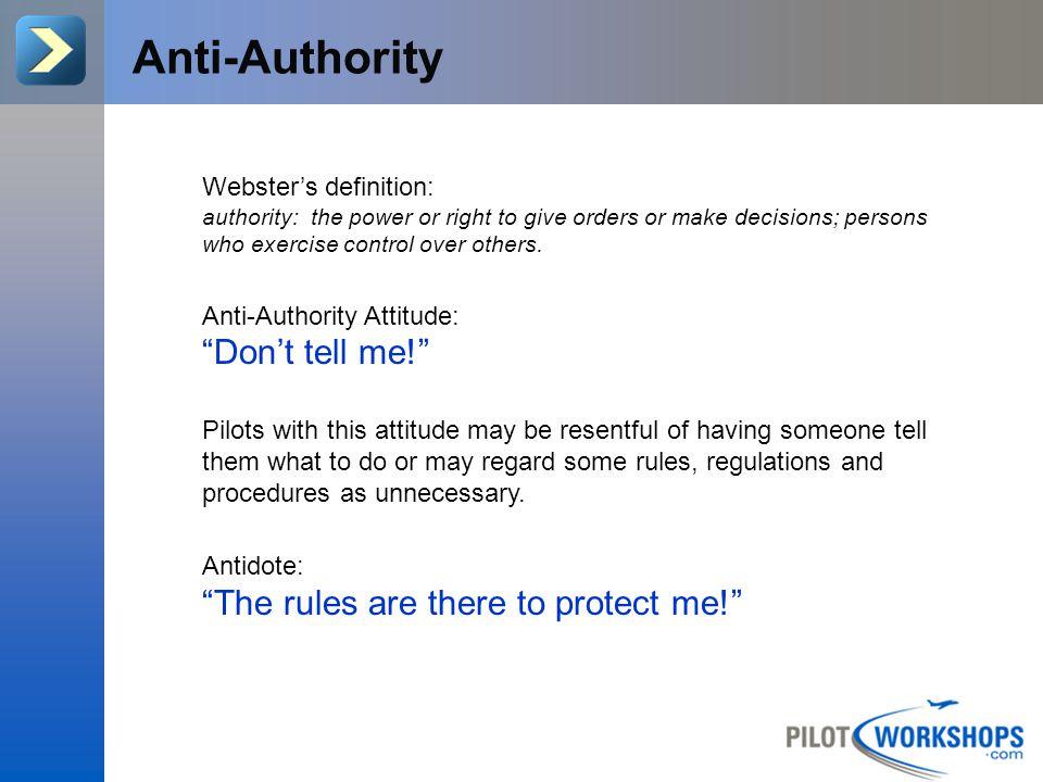 Do you have the Anti-Authority attitude?.