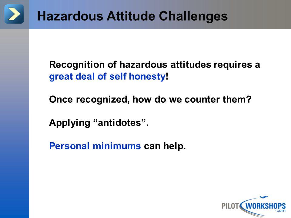 Part 1: 5 Hazardous Attitudes Review of Hazardous Attitudes and how they effect our decision making.