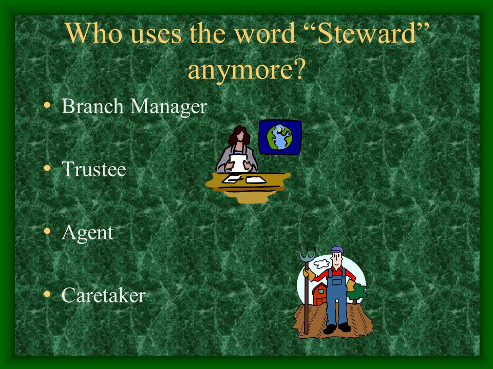 Stewardship Is Planning For The Future Incapacity Planning Providing for your family if you are gone Incorporating your Christian values in that plan Estate Planning