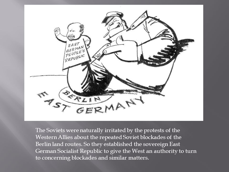East Germany was a full sack, but it had a leak.