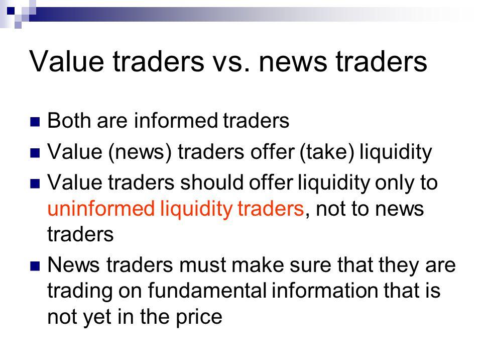 Value traders vs.