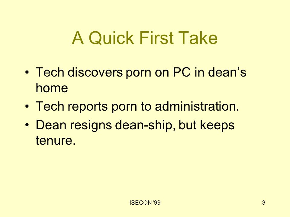 ISECON 9914 Discerning Tech has responsibilities to employer / the administration colleagues, students, alumni family society