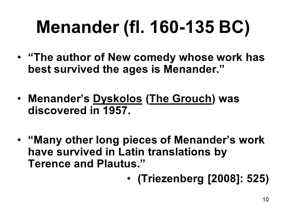 10 Menander (fl.
