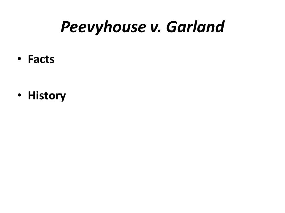 Peevyhouse v. Garland Facts History