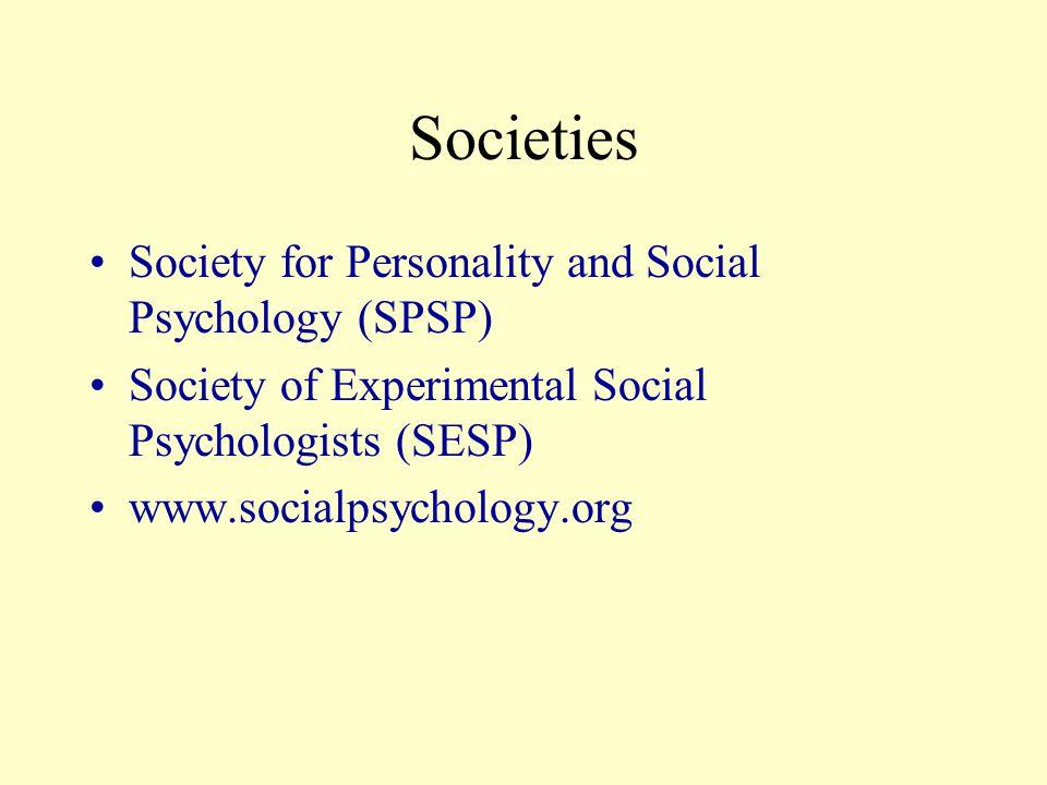 Broadening globally Influencing and being influenced by other social psychologies (European = more sociological) Growth.