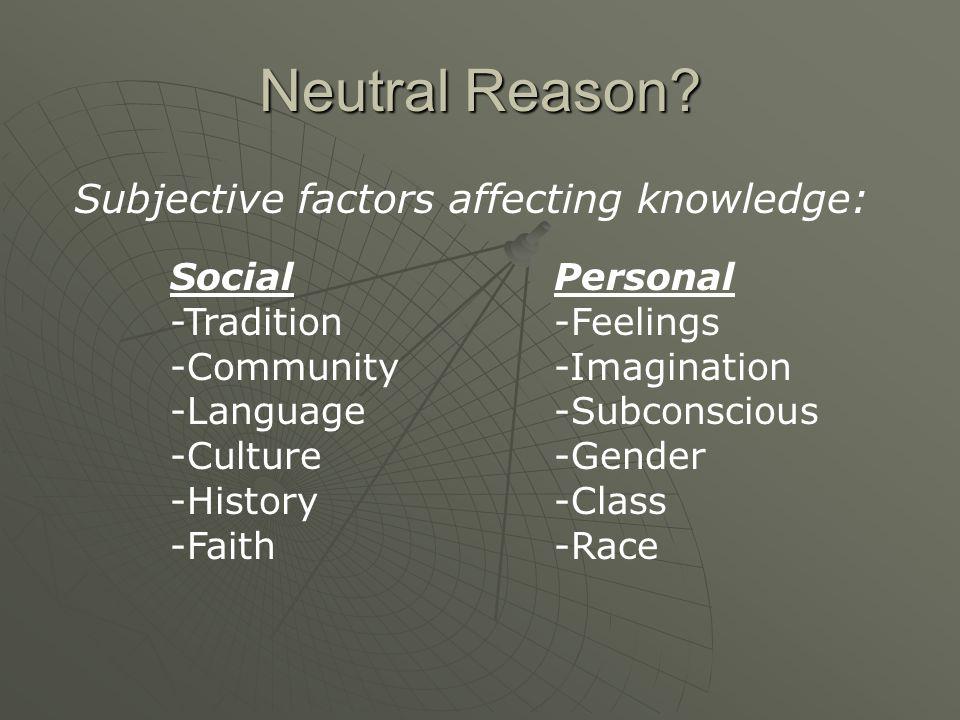 Neutral Reason.