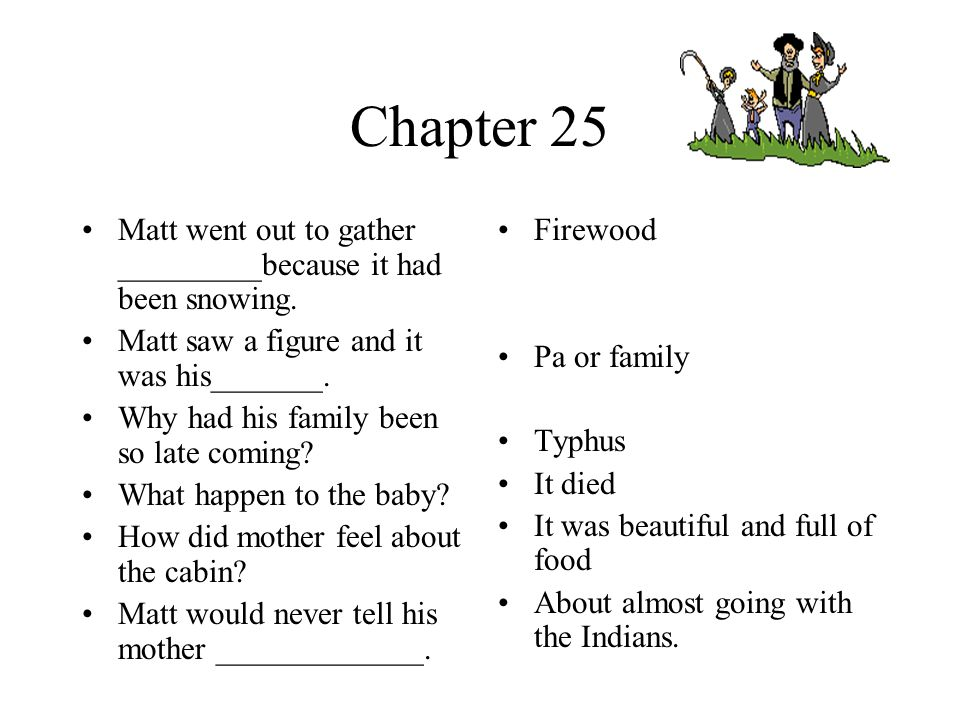 Chapter 23 and 24 After Attean left Matt spent most of his time doing what.