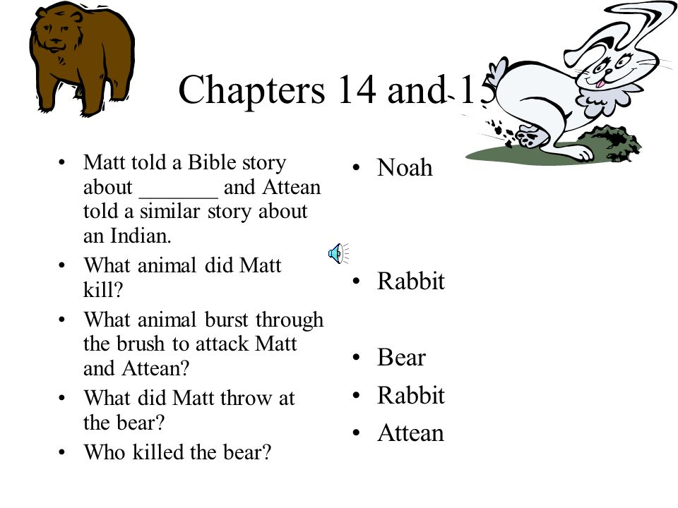 Chapter 12-13 What did Attean help Matt make to kill duck and squirrels.