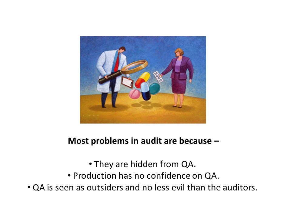 Most problems in audit are because – They are hidden from QA.