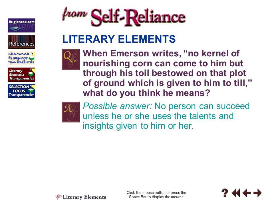 Literary Elements 6-1-3 Figurative language is language that conveys ideas beyond what the words literally mean.  LITERARY ELEMENTS For example, Emer