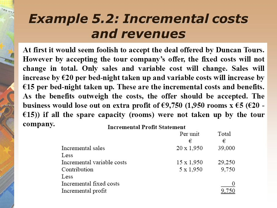 Example 5.8: Special pricing decisions