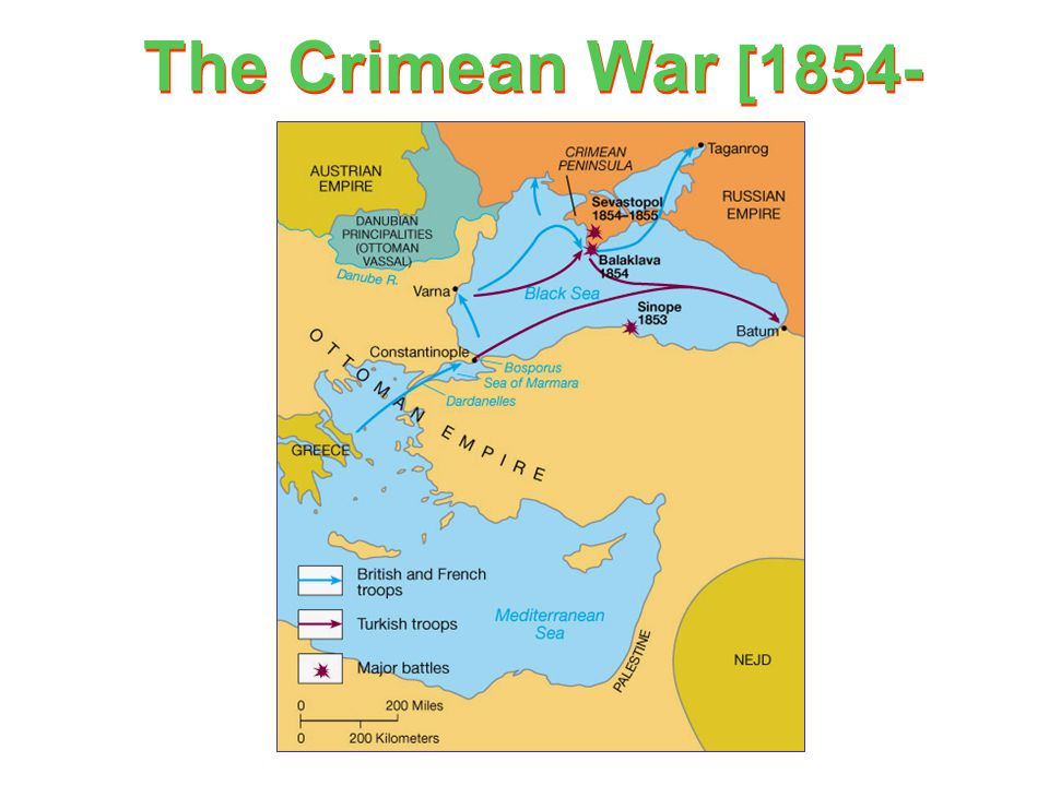 The Crimean War [1854- 1856] Russia [claimed protectorship over the Orthodox Christians in the Ottoman Empire] Ottoman Empire Great Britain France Pie