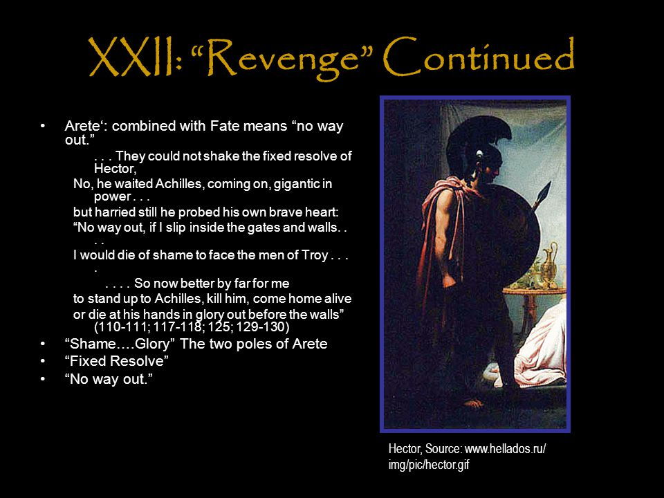 XXII: Revenge Continued Arete': combined with Fate means no way out. ...