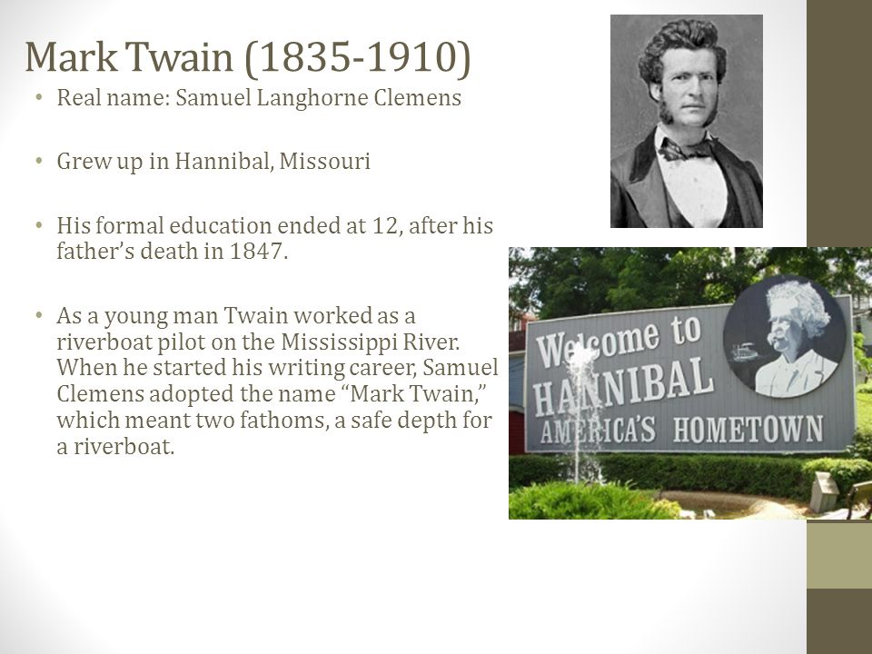 In 1861, Samuel Clemens avoided the brewing Civil War by going west.