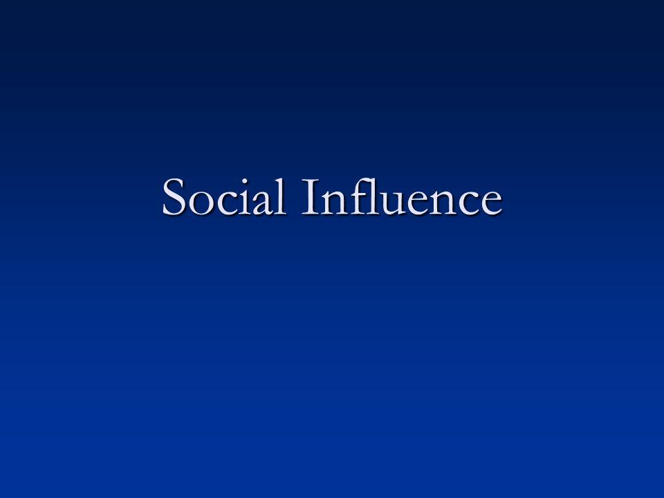 Social Influence Outline I.Conformity I. Conformity II.
