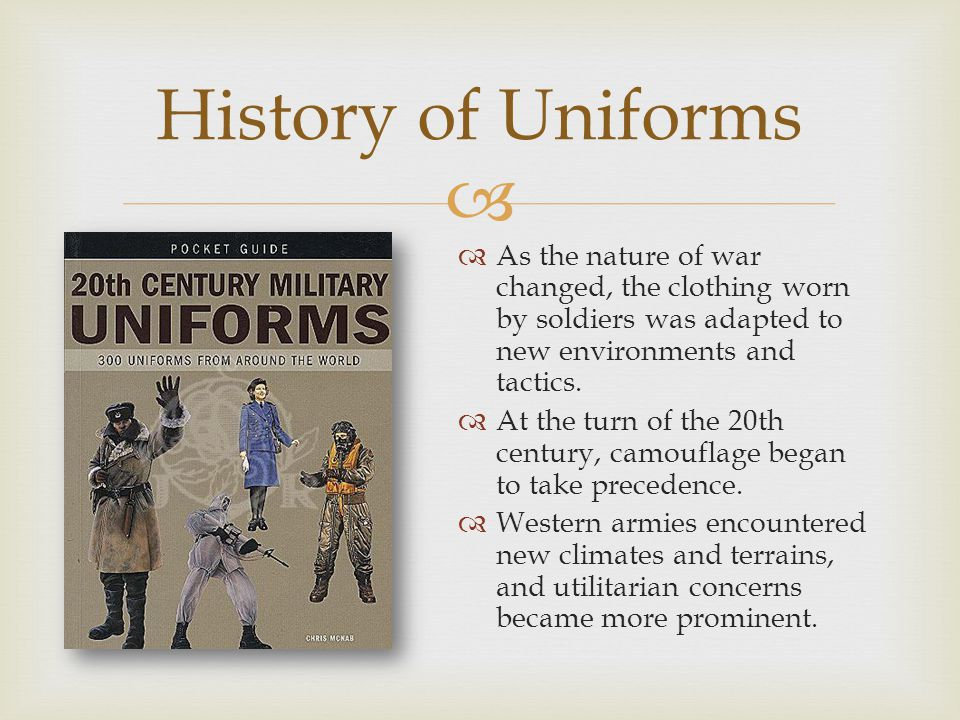  The American Doughboy uniform was created after the U.S.