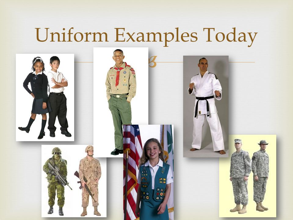  Uniform Examples Today