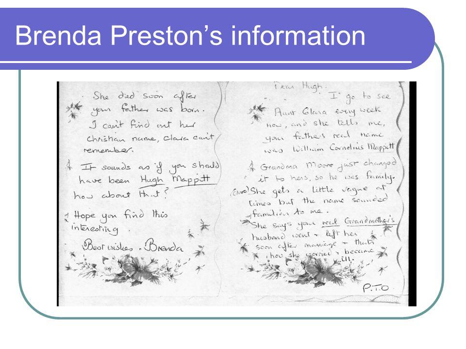 Brenda Preston's information