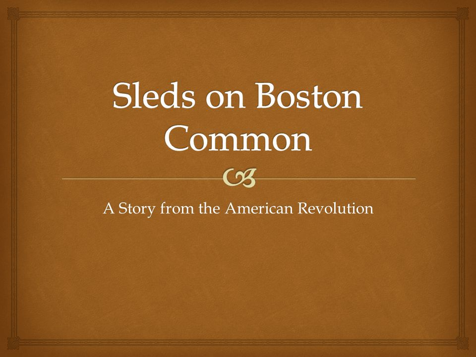 A Story from the American Revolution