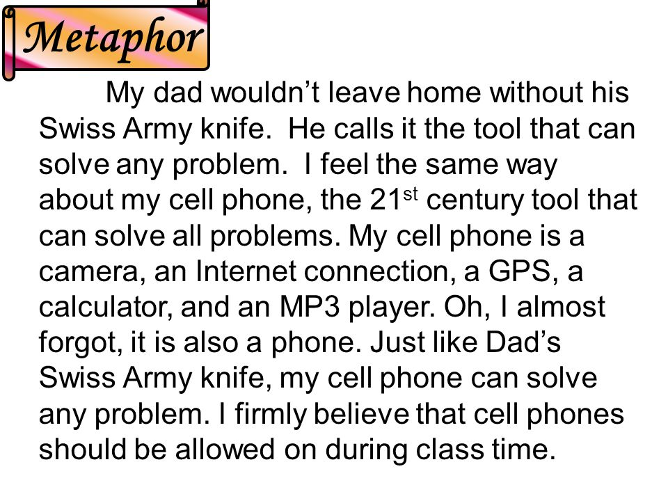My dad wouldn't leave home without his Swiss Army knife.