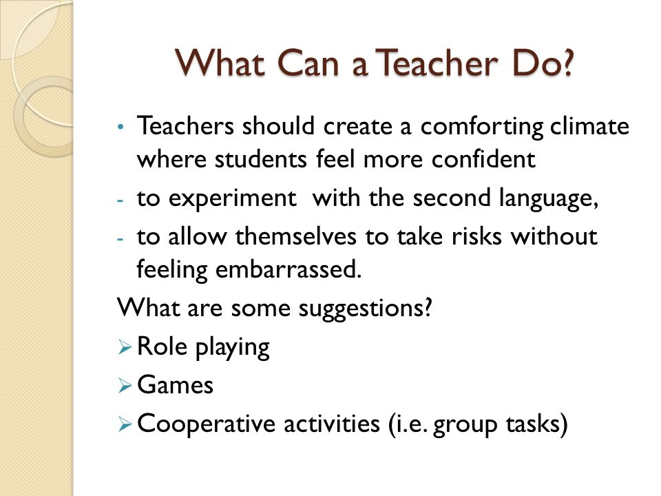 What Can a Teacher Do.