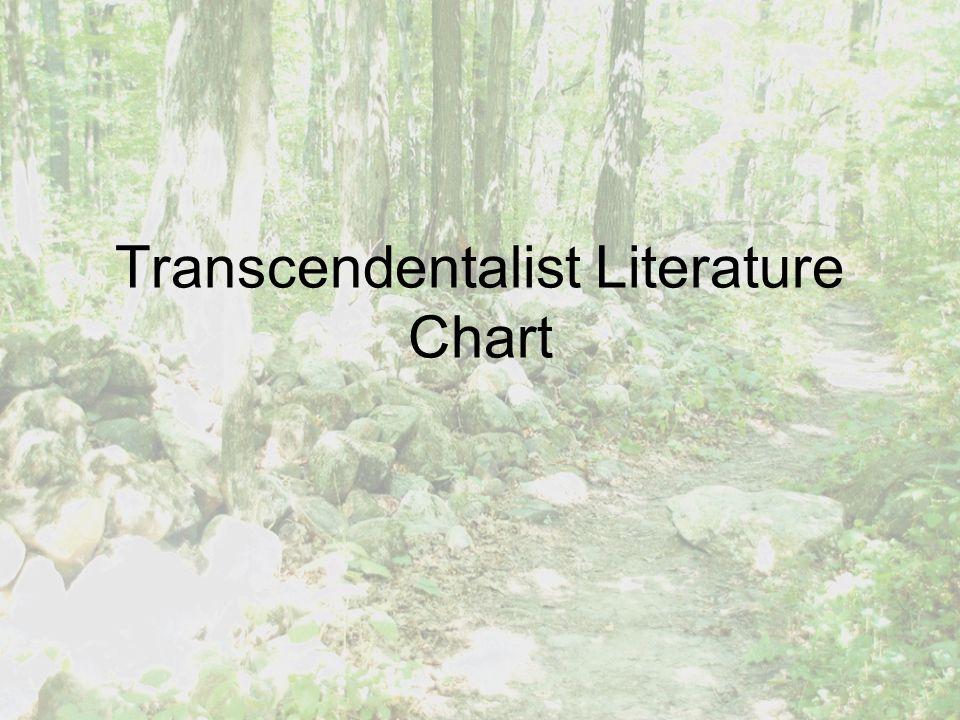 Transcendentalist Literature Chart