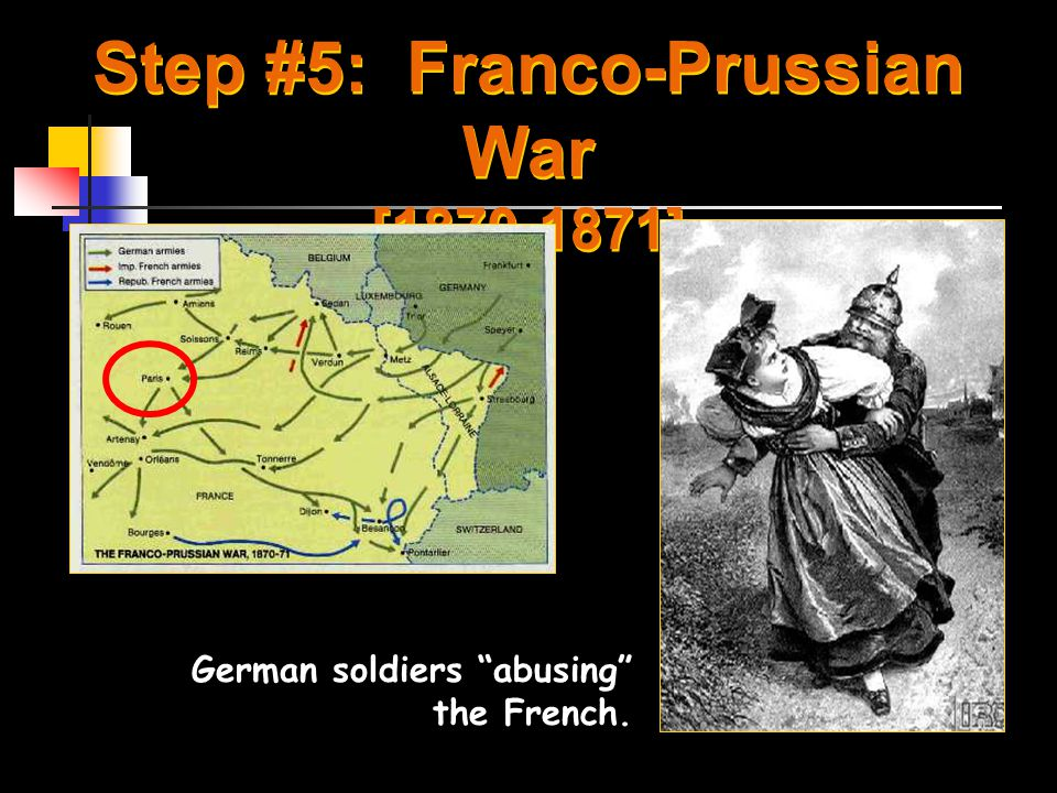 Franco-Prussian War The Second Empire fell on September 4, 1870 January, 1871- William was proclaimed Kaiser of a new, imperial Germany Peace signed in May required France to cede the provinces of Alsace and Lorraine to Germany and to pay a multibillion-franc indemnity