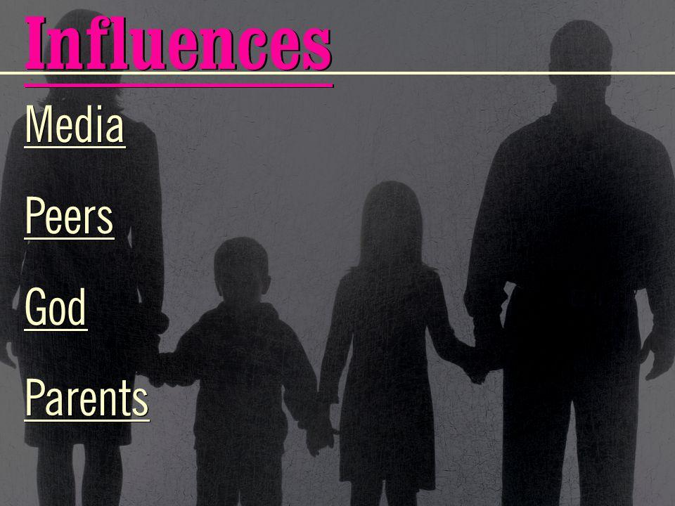 Influences Media Peers God Parents Media Peers God Parents