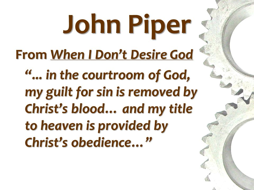 John Piper From When I Don't Desire God ...