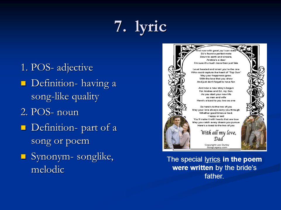 7. lyric 1.