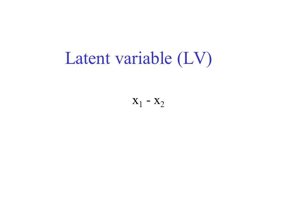 Latent variable (LV) x 1 - x 2