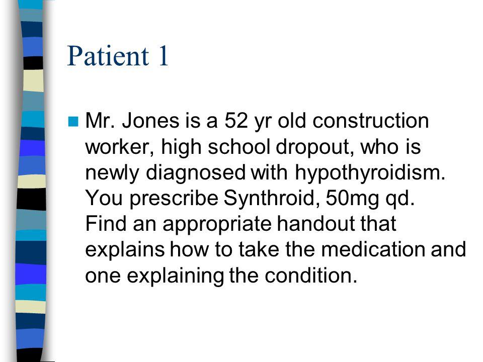 Patient 1 Mr.