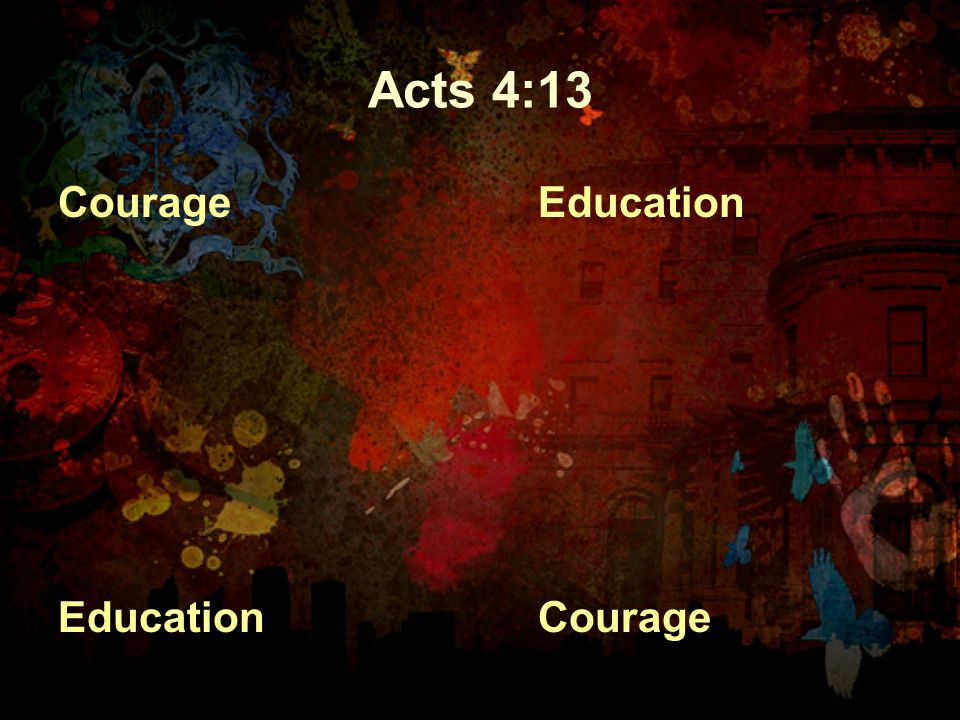 Acts 4:13 Courage Education Courage