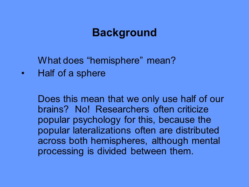 Background What does hemisphere mean.