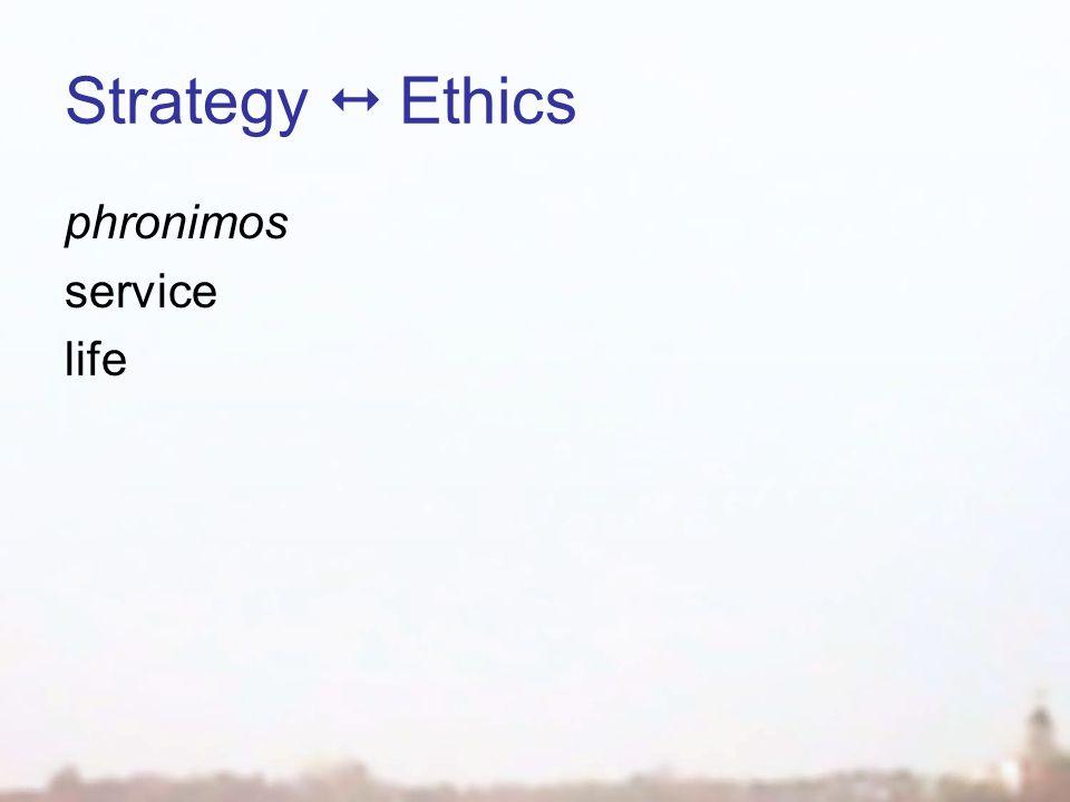 Strategy  Ethics phronimos service life