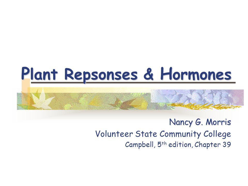P lant H ormones Hormone Hormone = Gr.