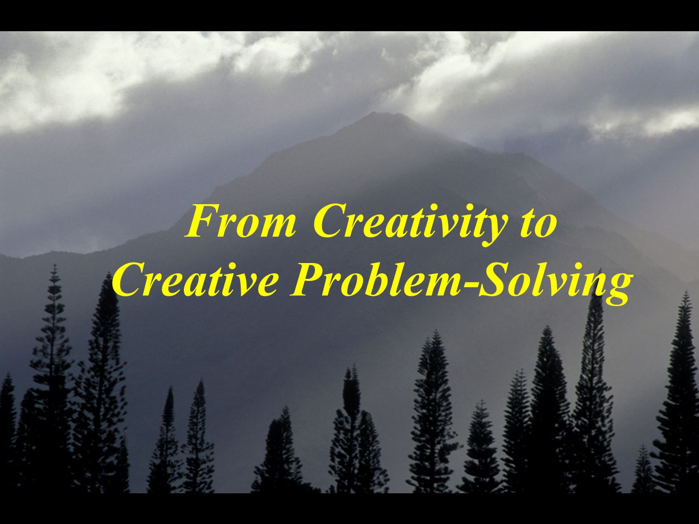 From Creativity to Creative Problem-Solving