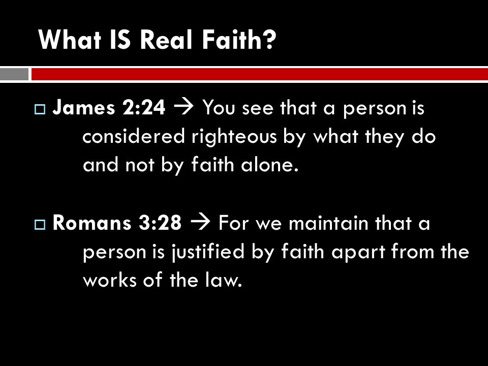 What IS Real Faith.