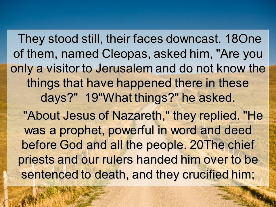 27And beginning with Moses and all the Prophets, he explained to them what was said in all the Scriptures concerning himself.
