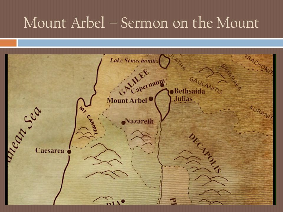Mount Arbel – Sermon on the Mount
