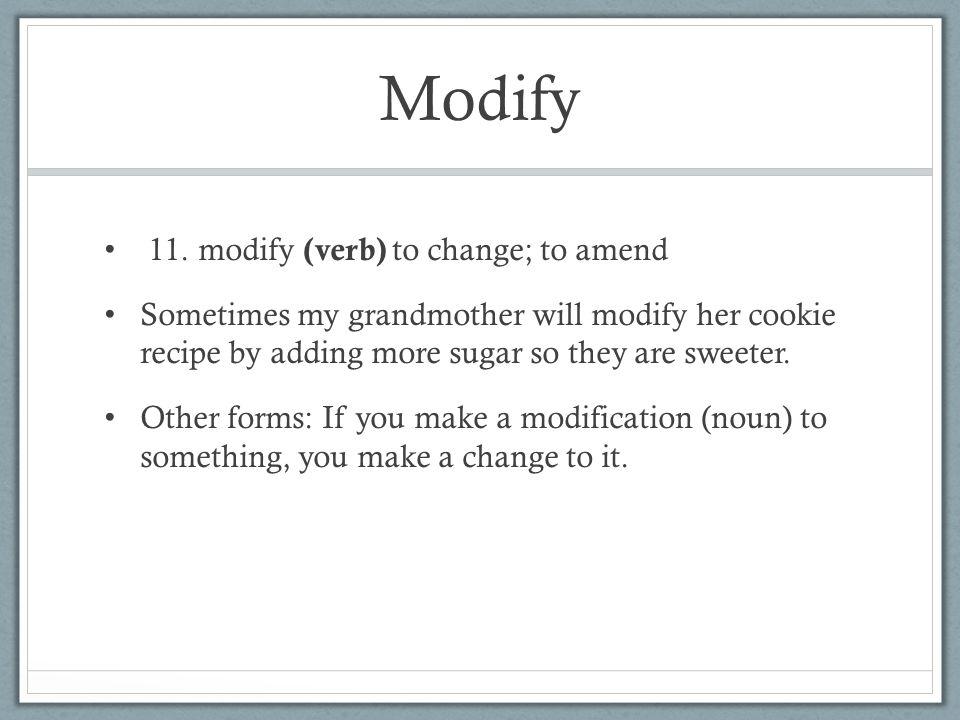 Modify 11.