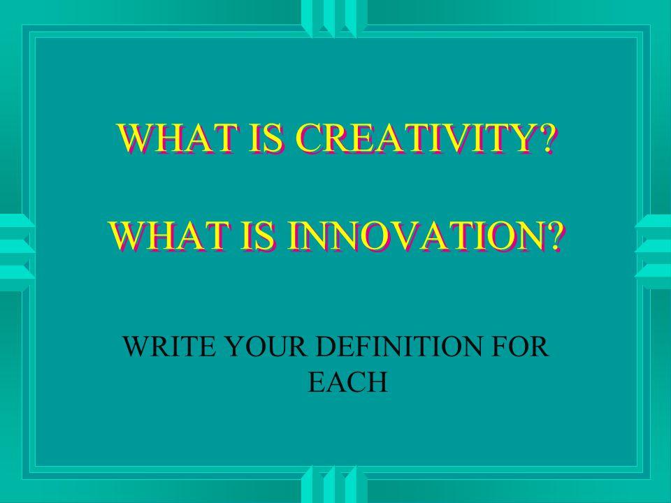 STEPS LEADING TO NEW IDEAS u Preparation u Concentration u Incubation u Illumination u Verification / Production