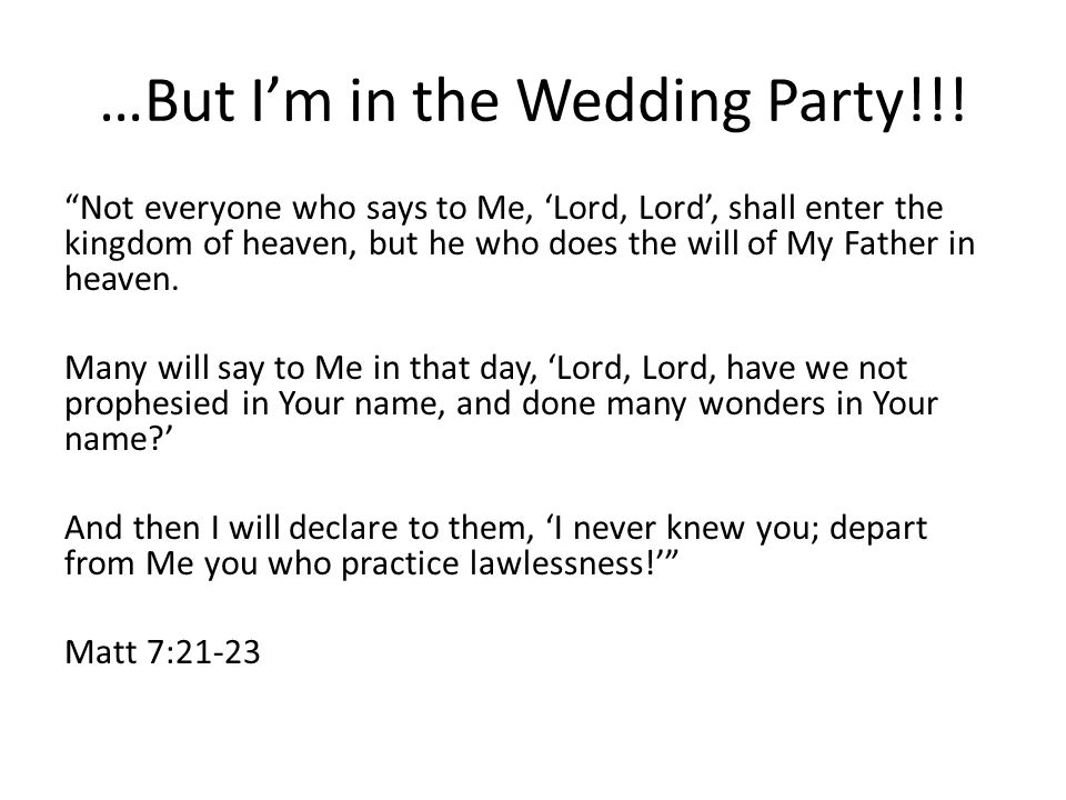 …But I'm in the Wedding Party!!.