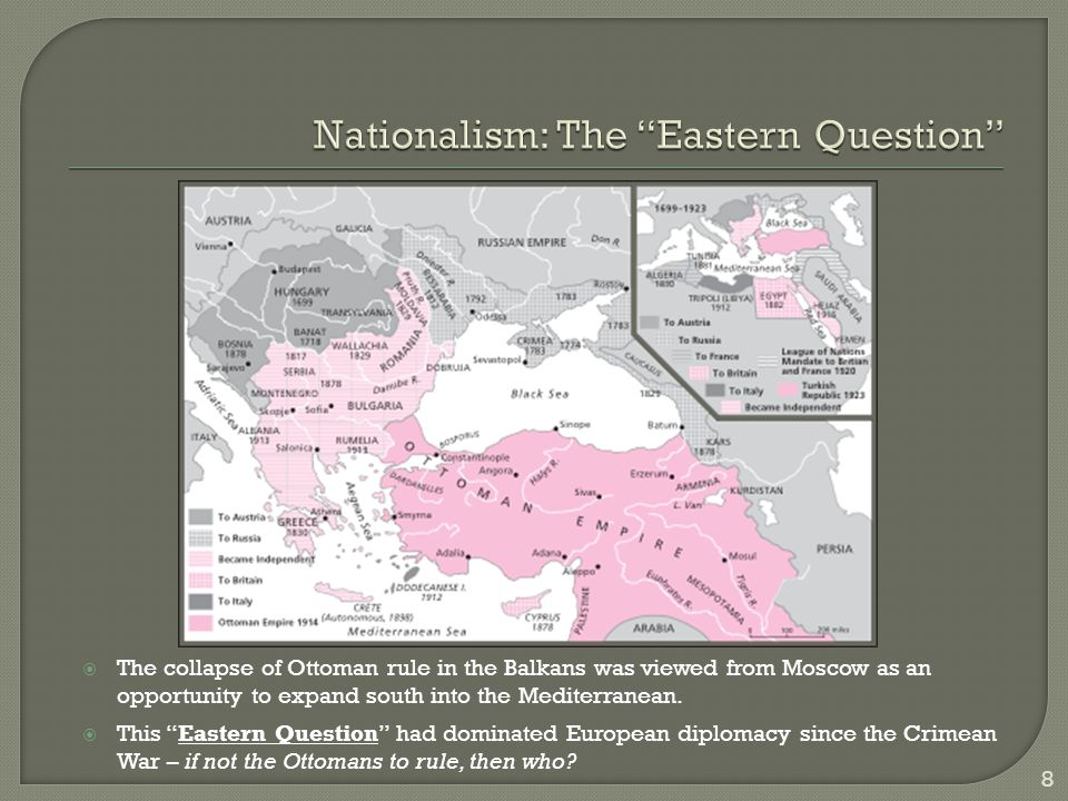 …What Greece had done in the Peloponnese in the 1820s, what Belgium had done in Flanders in the 1830s, what Piedmont had done in Italy in the 1850s and what Prussia had done in Germany in the 1860s – that was what the Serbs wanted to do in the Balkans in the 1900s: to extend their territory in the name of South Slav [Yugoslavia] nationalism.