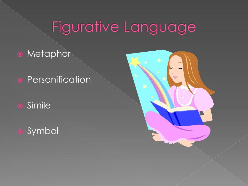  Metaphor  Personification  Simile  Symbol