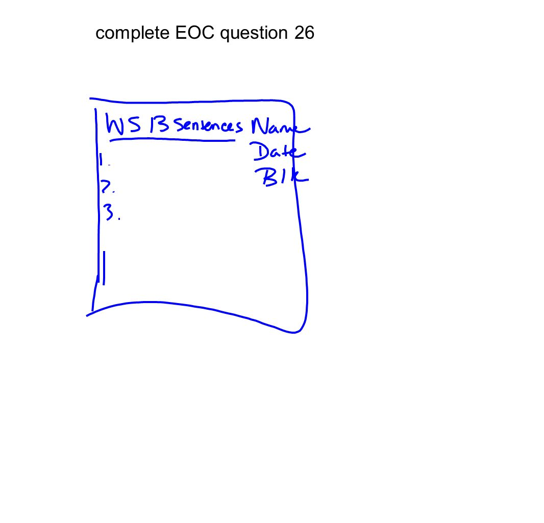 complete EOC question 26